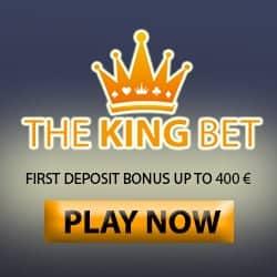 TheKingBet Casino   100% up to €400 free cash + 165 free spin bonus