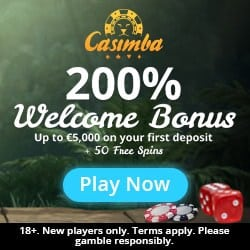 Casimba Casino 125 free spins and €/$6,500 deposit bonus