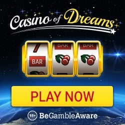 Casino of Dreams £1000 bonus and 50 free spins on Immortal Romance