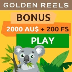 Golden Reels Casino (AU/NZ) 200 free spins and $2000 bonus