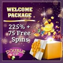 Double Up Casino 75 free spins and 225% welcome bonus