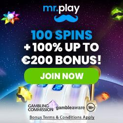 Mr.Play Casino [register & login] 100 free spins and €200 bonus