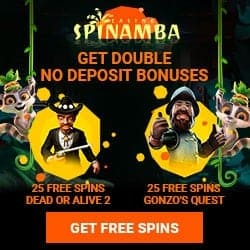 25 free spins on Dead or Alive 2 or Gonzo's Quest slot by NetEnt