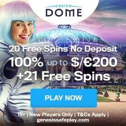Dome Welcome Bonus