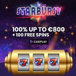 CASIPLAY - 100 free spins and 800 EUR in free bonuses