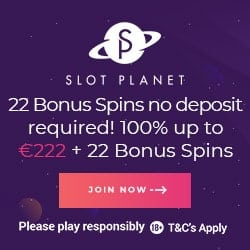 Hot wo get 22 free spins no deposit bonus to Slot Planet Casino?