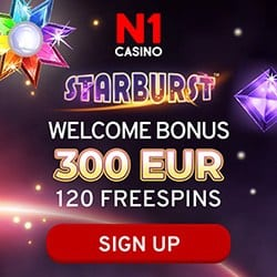 300€ welcome bonus and 120 free spins
