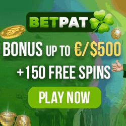 150 freespins and 500 euro welcome bonus