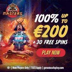 Casino Masters -welcome bonus banner 250x250 (EUR)