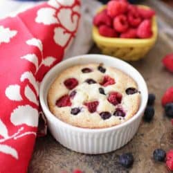 Berry Topped Coffee Cake For One | One Dish Kitchen