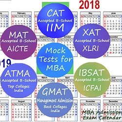 MBA Entrance Exam Calendar