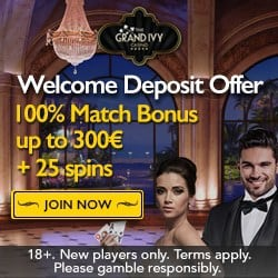 Grand Ivy Casino 100 extra spins & €1500 new player bonus