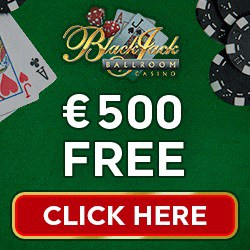Blackjack Ballroom Casino 50 free spins & $/€500 free bonus