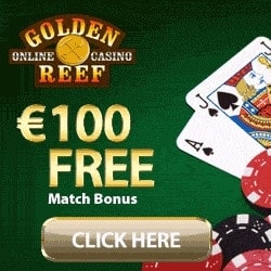 Golden Reef Casino 50 free spins and 100% up to $/€100 bonus