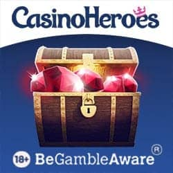 Casino Heroes 5€ free bonus plus 900 free spins or €1300 & 200 FS