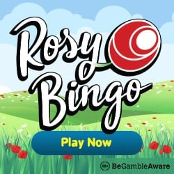 Rosy Bingo Casino - 67 slot free spins and £40 free bingo bonus