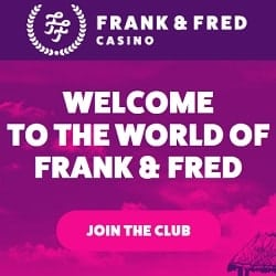 FrankFred.com 100 free spins on registration - no deposit bonus!