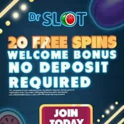 Dr Slot Mobile Casino - 20 free spins bonus without deposit