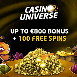 Casino Universe welcome bonus