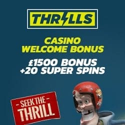 Thrills Casino | €1500 Bonus + 20 Super Free Spins | Big jackpot games!