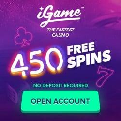 iGame.com casino 375% bonus + €1000 gratis + 460 free spins