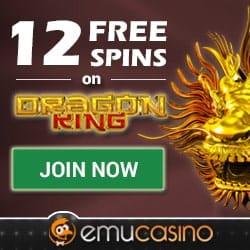 Get 12 gratis spins no deposit bonus at Emu Casino Online