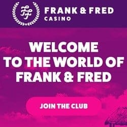 FrankFred.com no deposit bonus: 100 free spins on registration