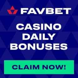 Favbet Casino [register & login] 50 free spins and €10 free bet
