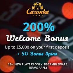 Casimba   125 bonus spins + €6,500 bonus in new Microgaming casino
