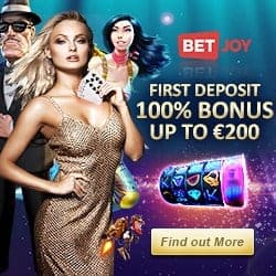 Betjoy Casino & Sportsbook – 25 free spins NDB + €200 welcome bonus