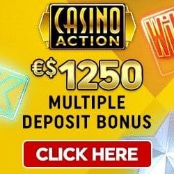 Casino Action €1250 deposit bonus + 100 Microgaming free spins