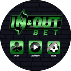 In Out Bet Casino [Pay N Play] 10% cashback and free spins bonus