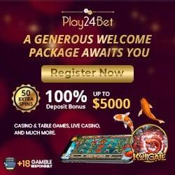 30 free spins bonus on Mr Vegas jackpot slot