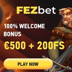 FezBet Casino fee bonus banner 250x250