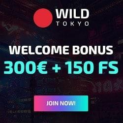 Wild Tokyo free spins banner