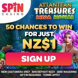 Spin Casino exclusive offer banner 250x250