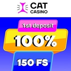 CatCasino first deposit banner