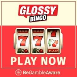 Glossy Bingo Casino - 50 free spins and 300% up to £300 free bonus