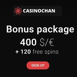 CASINOCHAN exclusive free bonus for Australia & Canada