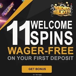 Video Slots Casino (review) 11 free spins + 100% cash bonus