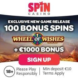 100 bonus free spins on Wheel of Wishes jackpot