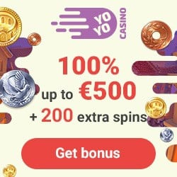 Yoyo Casino 200 free spins + 100% up to €500 bonus