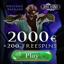 Joy Casino 200 free spins bonus on registration