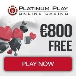 Platinum Play Casino €800 deposit bonus and 100 free spins promo