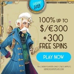 100% bonus and 300 gratis spins