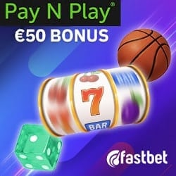 Fastbet €50 free bonus on deposit via Trustly