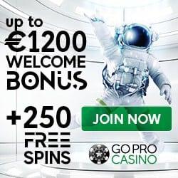 GoPro Casino [goprocasino.com] 1200 EUR + 250 free spins bonus