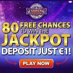 How to get 80 free spins on Mega Moolah to Zodiac Casino?