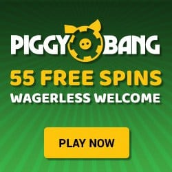 How to get 55 wager free spins to Piggy Bang Casino?
