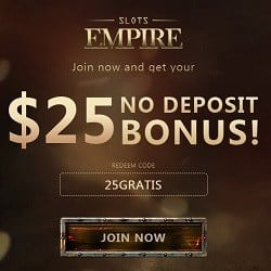 $25 exclusive free chip